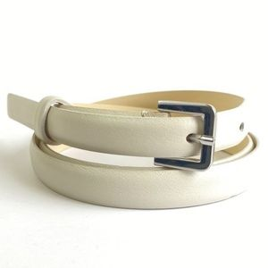 Max Mara Off White Skinny Belt Size 48
